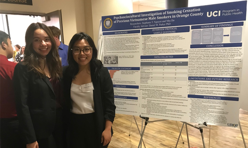 Public health research honors students and faculty mentors participate in the Undergraduate Research Opportunity Program's Annual Symposium
