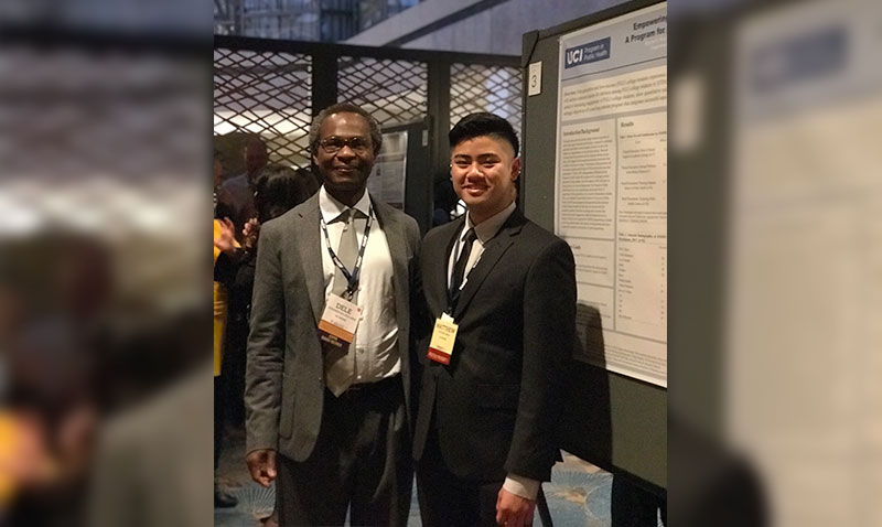PHA president Matt DeLeon and Dele Ogunseitan at the annual meeting of the Association of Schools and Programs in Public Health, 2018, Arlington, Virginia