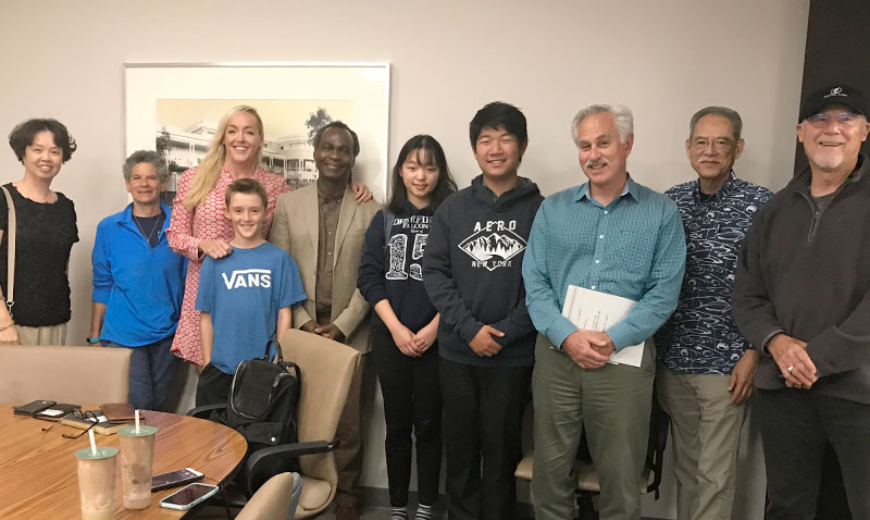 UC Irvine hosts meeting with Non-toxic Neighborhood Group at the office of the Richard Demerjian, Assistant Vice Chancellor, Environmental Planning and Sustainability (18 June 2019).