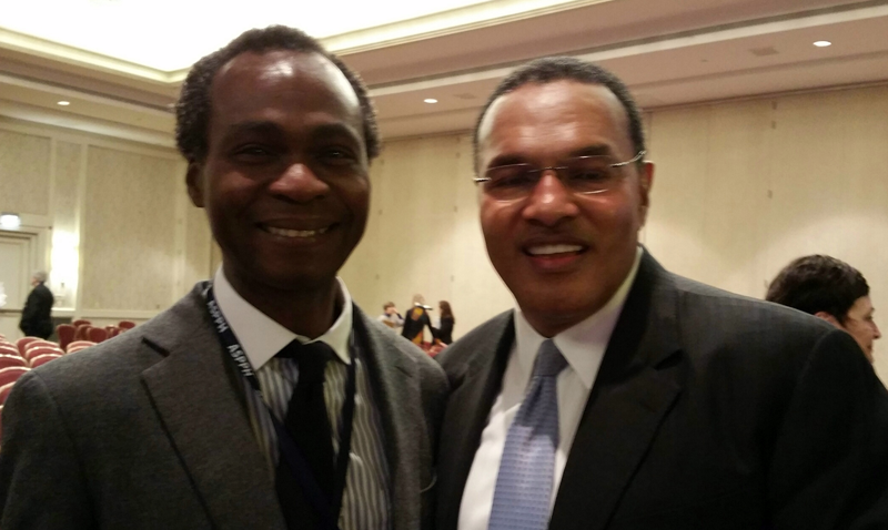 ASPPH 2016: UCI Public Health Chair, Prof. Dele Ogunseitan with Freeman A. Hrabowski, President of the University of Maryland in Baltimore County
