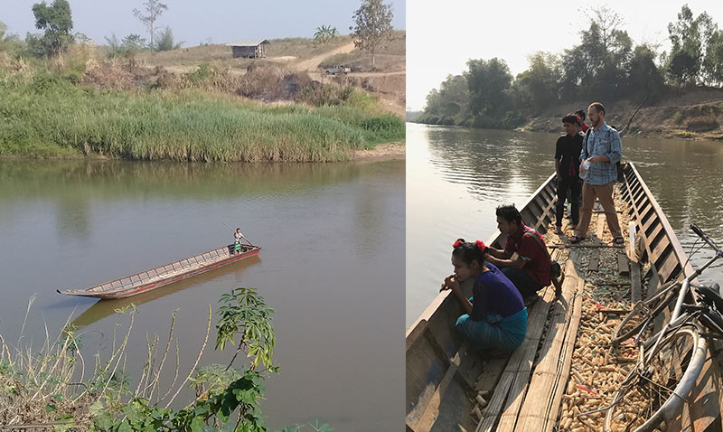 UCI Public Health Professor Daniel Parker visits Kayin State, Myanmar, February 2018.  Prof. Parker works with a cohort of Karen villagers who will carry GPS loggers for a year.  His pilot study will create detailed maps of exposure to mosquito bites and risk of malaria infection. (photos courtesy of Suphak Nosten)