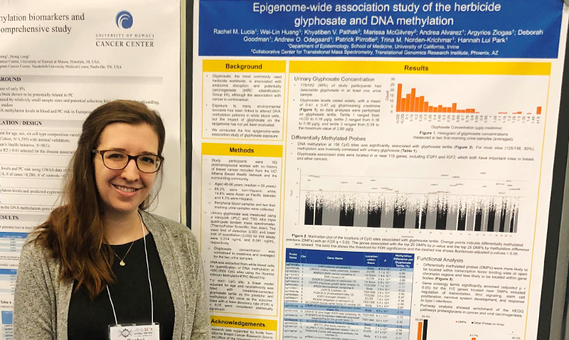 Rachel Lucia presented her research from the Department of Epidemiology at the American Society of Human Genetics (ASHG) conference in Houston, TX on October 15-19.