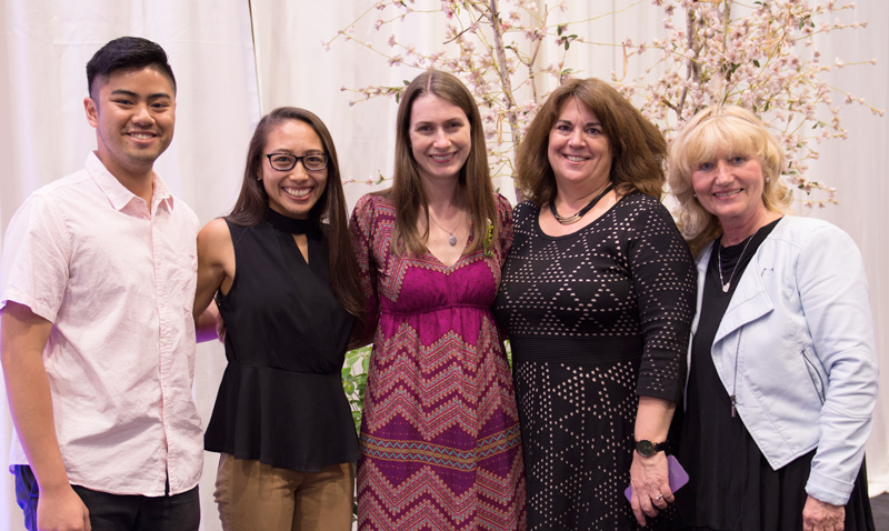 UCI Public Health faculty and students at the Division of Teaching Excellence and Innovation Celebration of Teaching in late April.  From left to right:  Matthew DeLeon, Nikki Deville, Miryha Runnerstrom, Janet DiVincenzo, and Zuzana Bic.