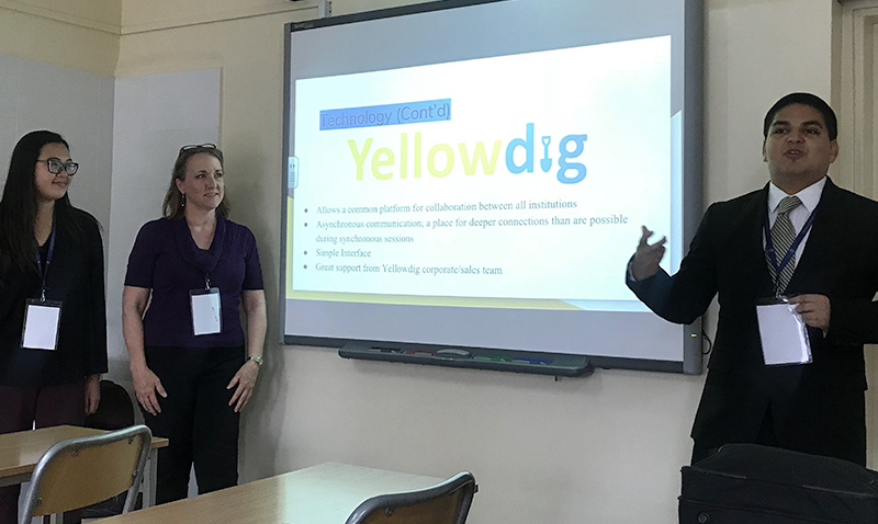 UCI Public Health students in Poland give a presentation