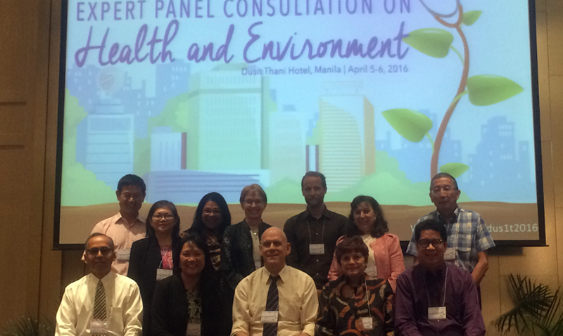 UCI Prof. Mojgan Sami (back row, 3rd from left), serves on an expert panel in Manila researching environment and health in the Asia Pacific Region for Vector, Environment and Society team of TDR/WHO.