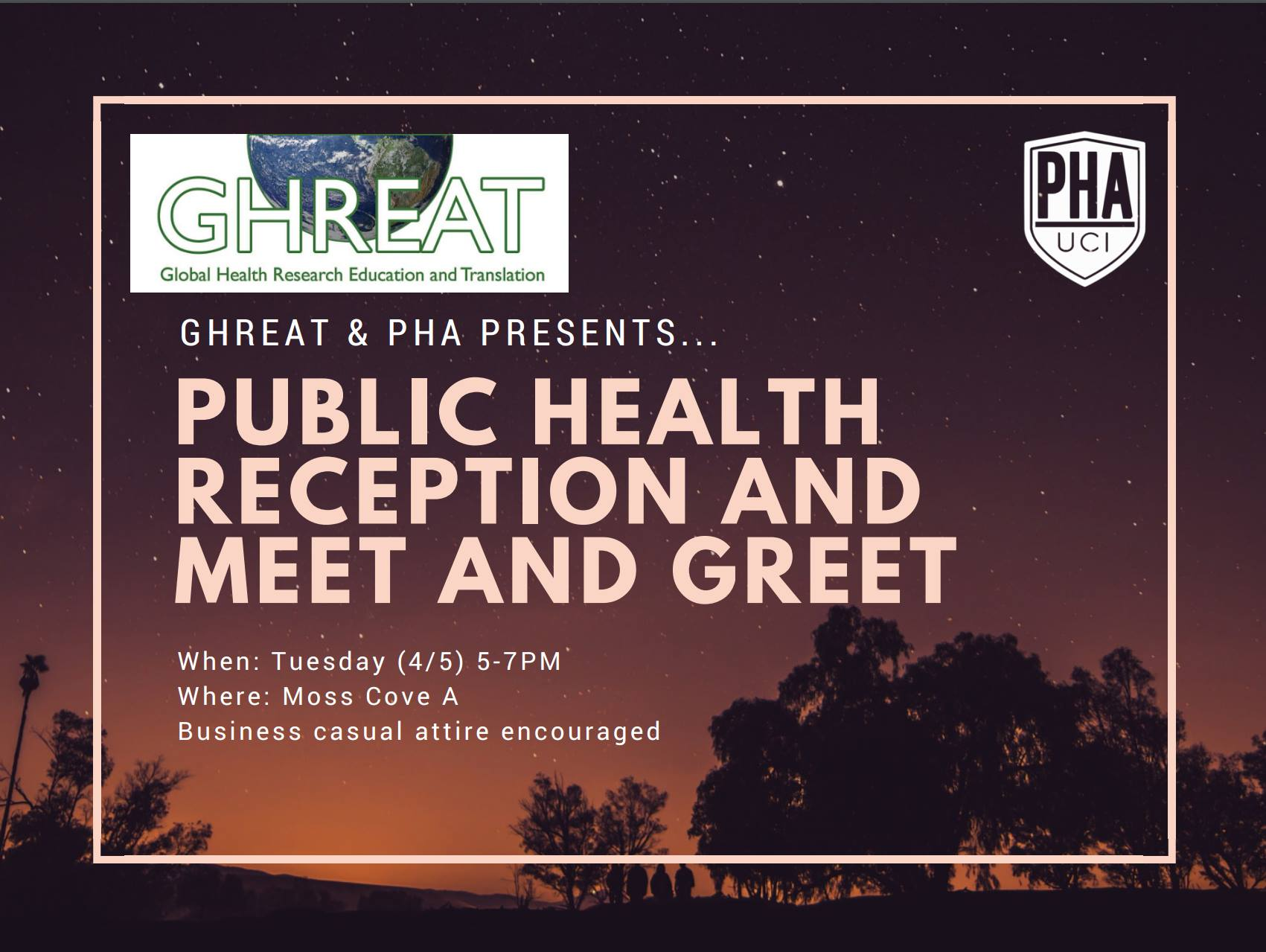 Public Health Reception and Meet & Greet - (4/5) 5-7pm