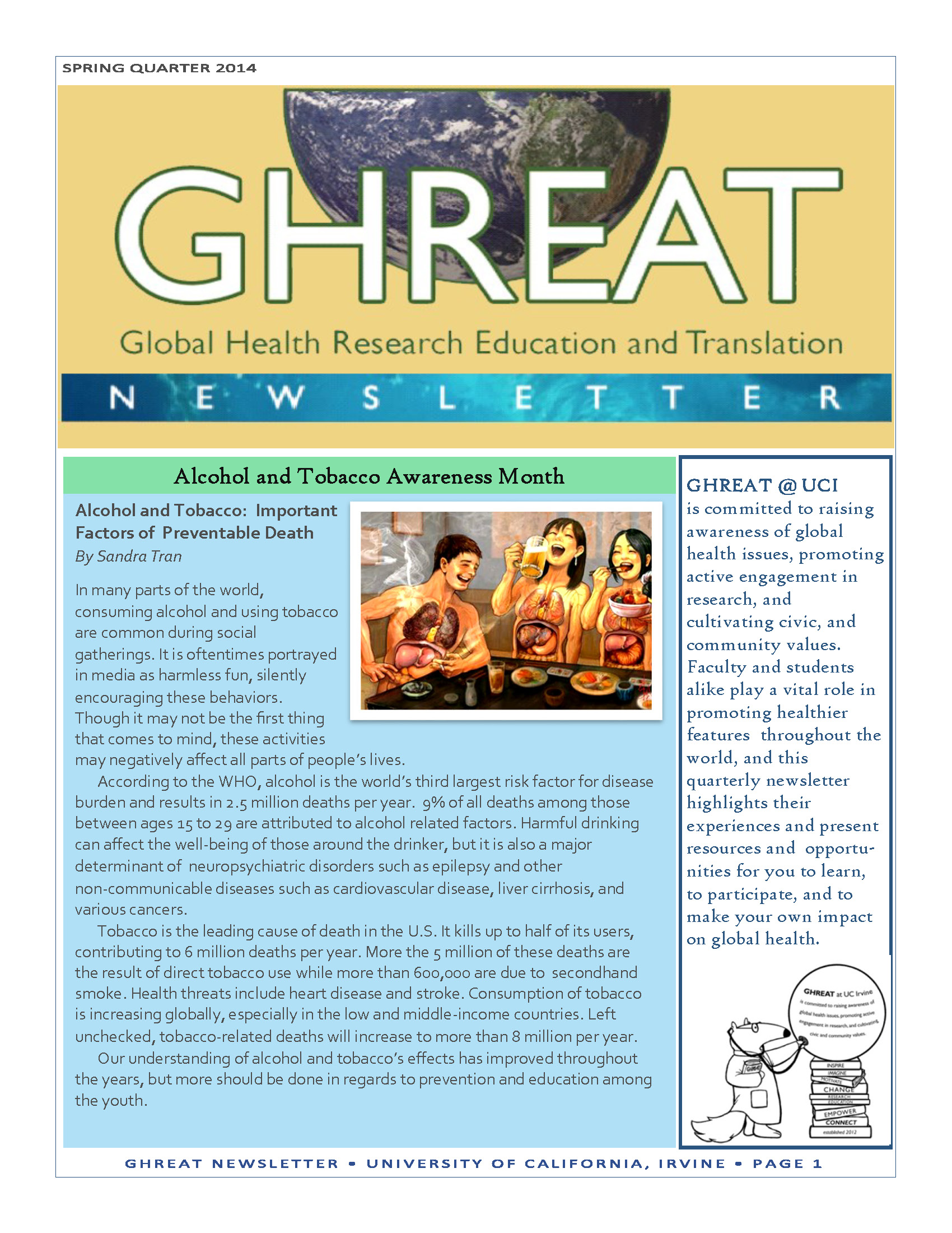 GHREAT Spring 2014 Newsletter