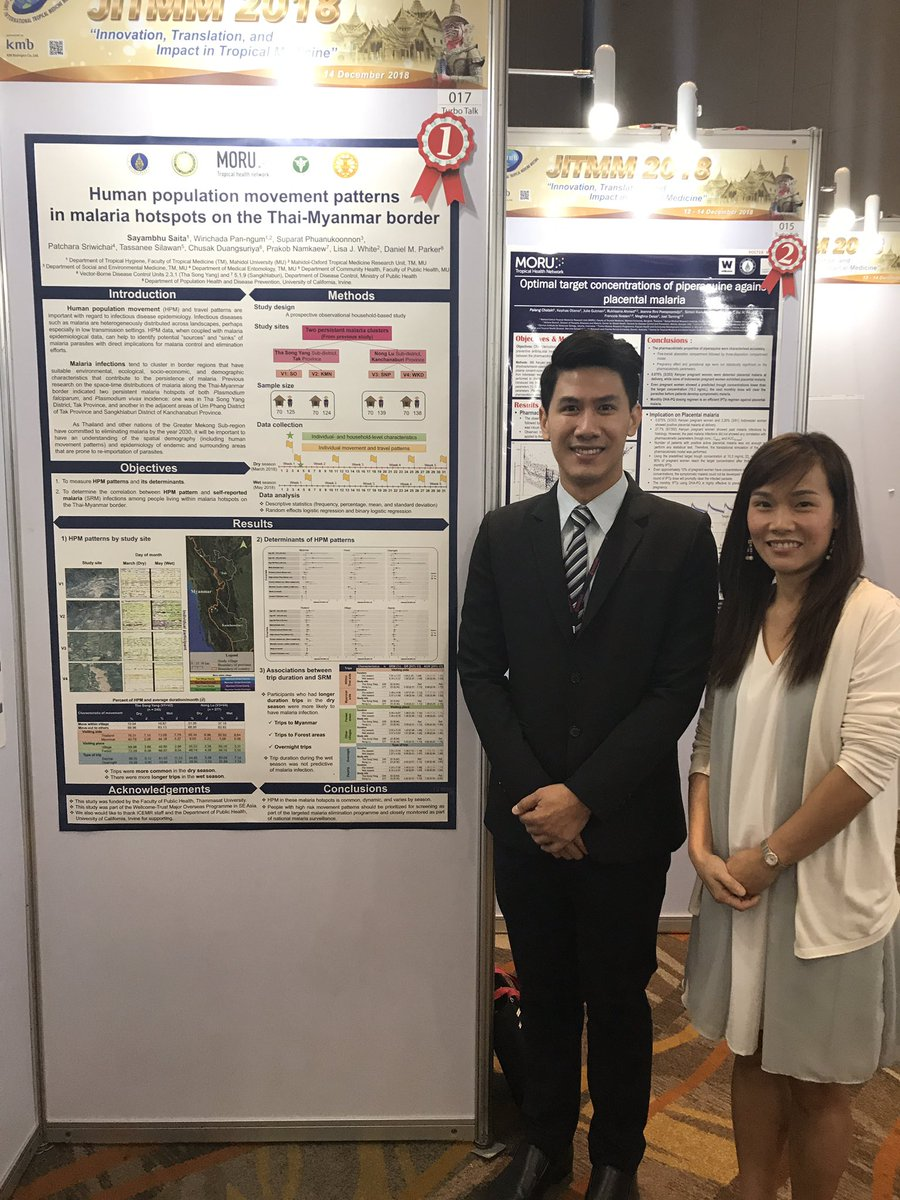 Visiting international scholar Sayambhu Saita wins award for poster (with UCI Public Health Prof. Daniel M. Parker, Ph.D as senior author) at the Joint International Tropical Medicine Meeting in Bangkok