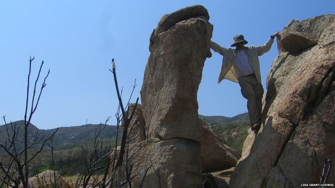 BBC News: Balancing rocks trace history of 'jumping' earthquakes - Prof. Lisa Grant Ludwig leads study