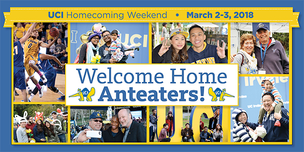 Welcome home, Anteaters! Join us at Homecoming 2018 – March 2 & 3