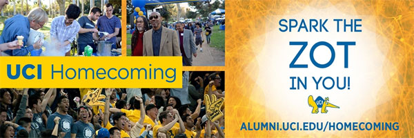 Spark the ZOT in You at Homecoming!