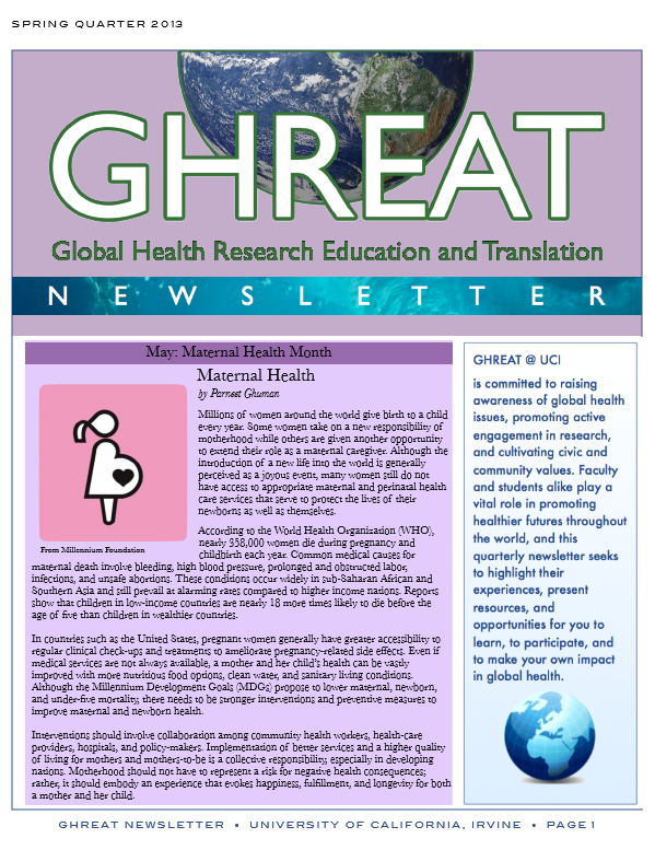 GHREAT Spring '13 Newsletter