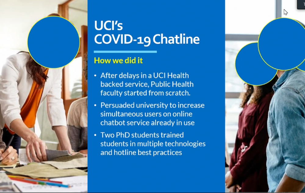 UCI's COVID-19 Chatline: How we did it - Featuring Ted Gideonse, Ph.D.