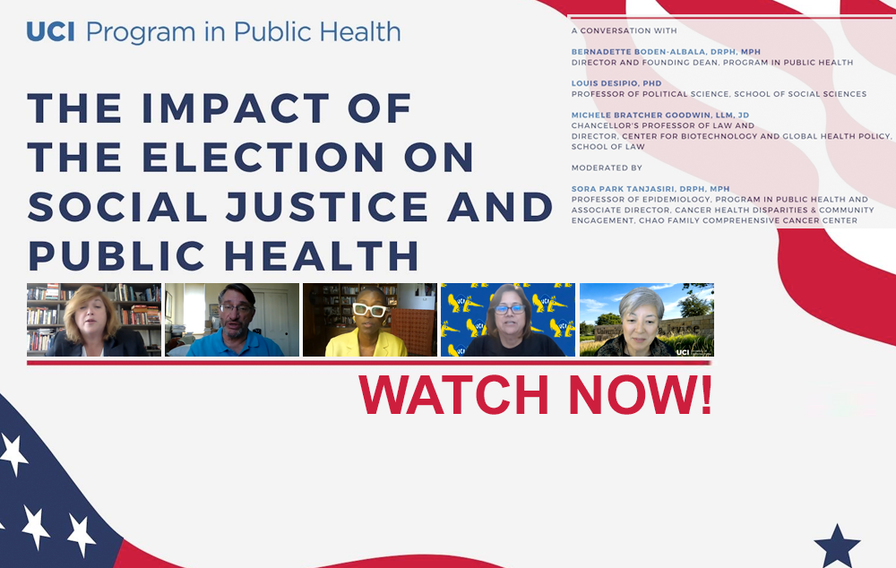 Video: PPH hosts a webinar entitled Impact of the Election on Social Justice and Public Health.